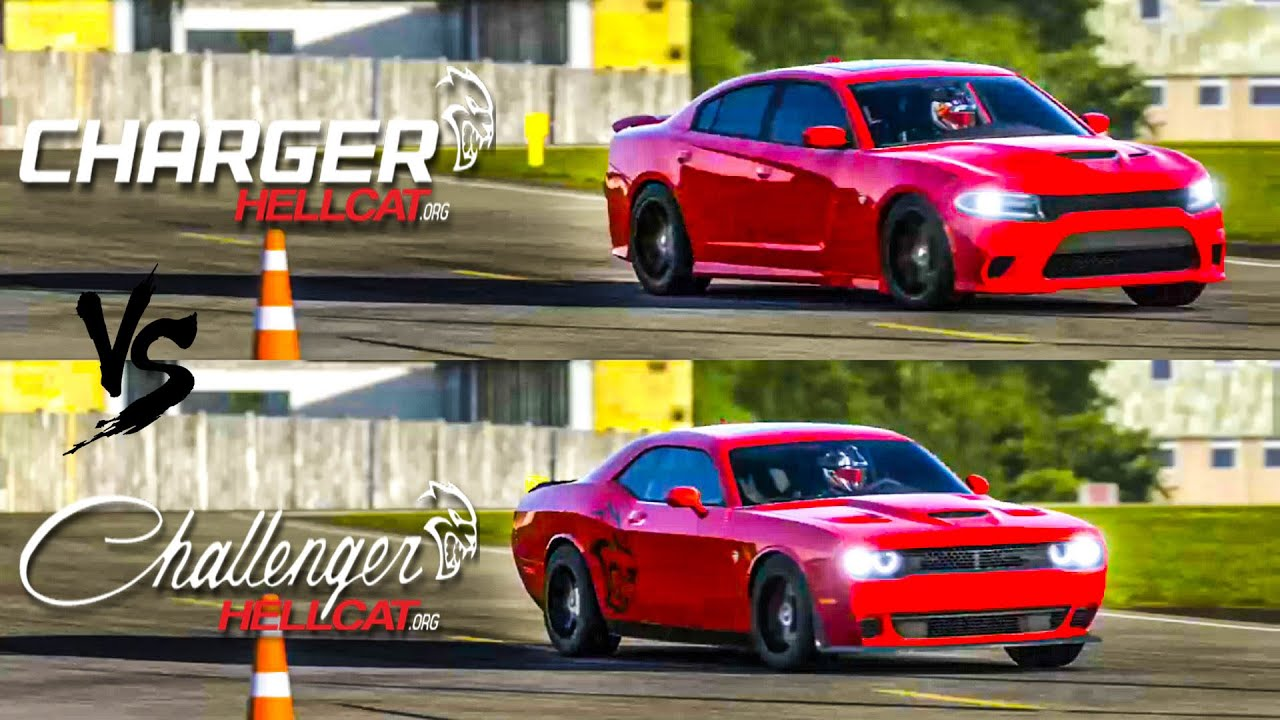 Charger Vs Challenger >> 2015 Charger Srt Hellcat Vs 2015 Challenger Srt Hellcat Top Gear