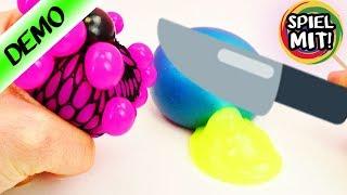 Squishy Mesh zerschneiden! Schleim Glibber Experimente - Spielzeug aufschneiden