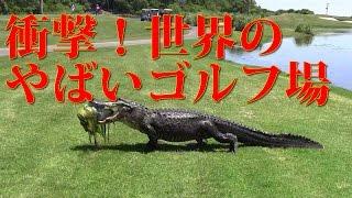 【面白】世界の凄いゴルフコースランキング 7選~ great surprise golf course in the world best7~