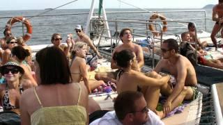 Party @ Catamaran (Ibiza-Formentera) 10.07.2011 wciaganie zagla