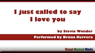 I just called to say I love you with Lyrics and Chords