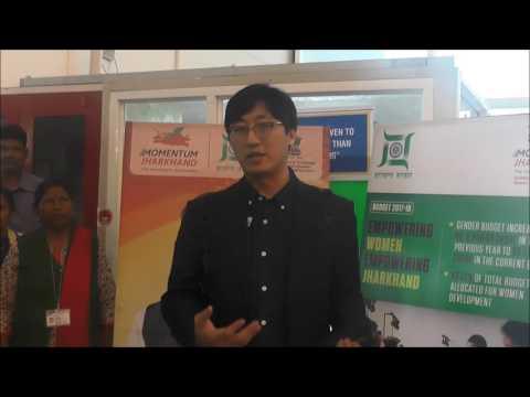 Mr Chan Park, Director, Dspone Co Ltd Korea at #MomentumJharkhand Global Investors Summit