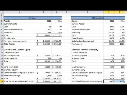 Financial Statement Analysis  Common Size Statements And