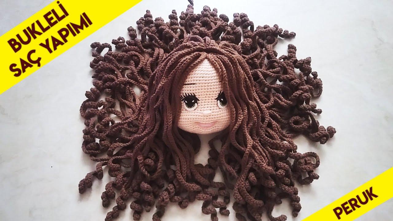 Bukleli peruk saç yapılışı(how to make a curly hair)