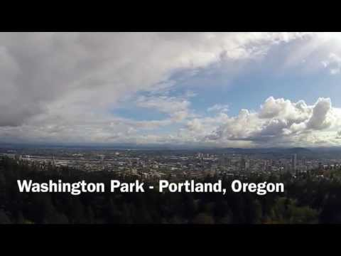 Washington Park - Portland, Oregon - Drone Flight