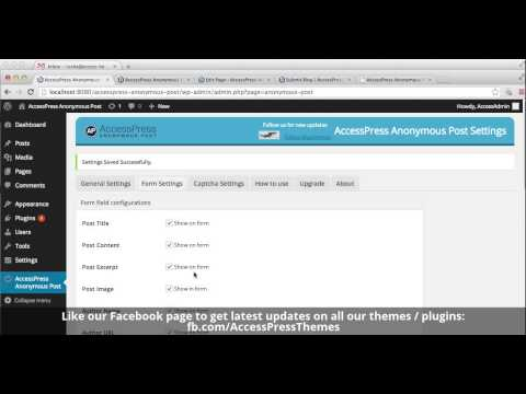 accesspress anonymous post pro  forms