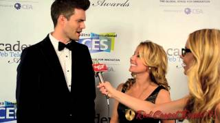AJ Gibson & Kristyn Burtt (@_AJGibson @KristynBurtt) at the 2nd Annual @IAWTV Awards #IAWTVAwards