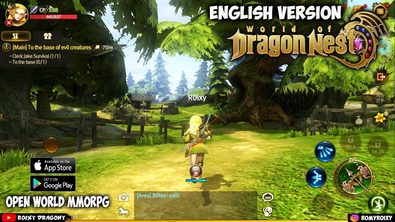 Akhirnya 😍 !!! World of Dragon Nest (ENG) Male Archer Gameplay - Android Open World MMORPG - YouTube