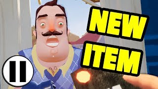 Hello Neighbor Act 1 NEW ITEM!! - PAUSE CHALLENGE REMOTE MOD