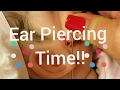 Piercing Baby Girls Ears! Ouch!!😓