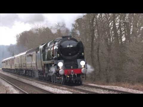 Bulleid Pacifics steam feast compilation