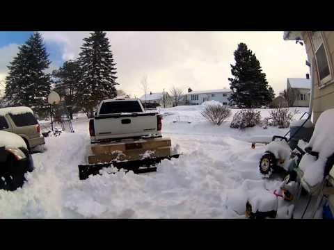 Homemade Wooden Snow Plow Test 2 FAIL 2 !!!