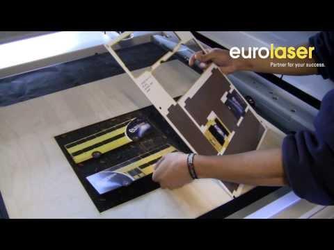 Laser cutting of a printed MDF event bus - Laserschneiden eines Event-Buses aus MDF - eurolaser