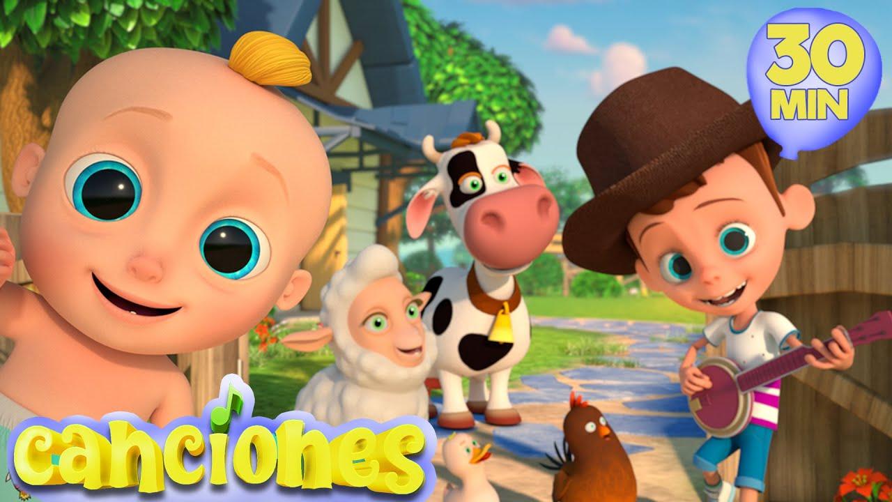 Las Canciones Dela Granja | Las Mejores Canciones Infantiles con Johny y sus amigos | LooLoo