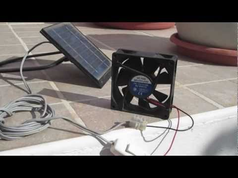 Solar Panel + Fan for ventilation