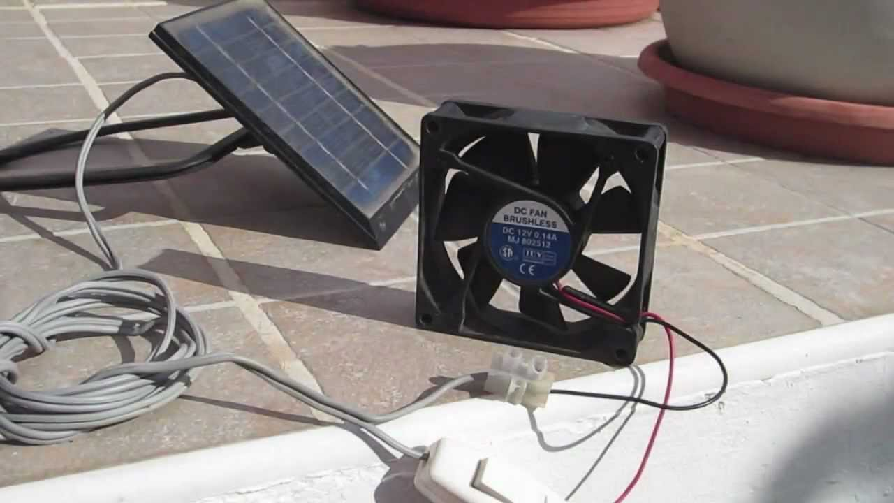 Solar Panel Fan For Ventilation Youtube