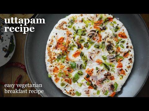 Perfect Uttapam Recipe | South Indian Food Vegetarian |Breakfast Recipes | Mixed Veg Uttapam Nasta