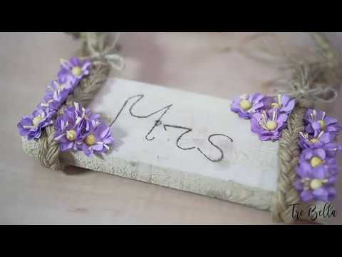 DIY Wedding Chair Decorations - Mrs. Engraved Wood Hanging Sign