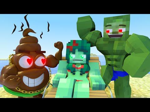 Best love story Minecraft animation Life of Zomma & Zombo # 3