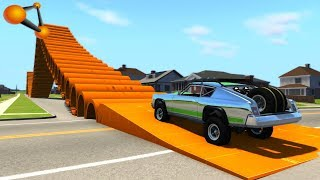 BeamNG.drive - Giant Pipes High Speed Crashes #4