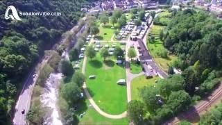 Camping Altenahr in der Eifel - Nürburgring Adenau Campingplatz Ahr Ahrtal (Drohnenaufnahmen)