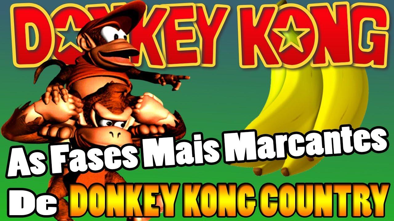 AS FASES MAIS MARCANTES DE DONKEY KONG COUNTRY / Super Nintendo