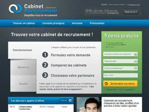 comment trouver un bon cabinet de recrutement youtube. Black Bedroom Furniture Sets. Home Design Ideas