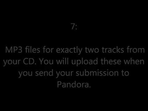 How To Submit Music To Pandora And Get Track Listings In Amazon (1/6/2014)