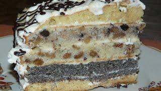 Торт Дамский каприз. Торт на сметане. Торт Дамский каприз рецепт
