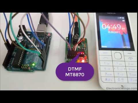 Arduino Mt8870 Dtmf Decoder Interfacing With Arduino Uno