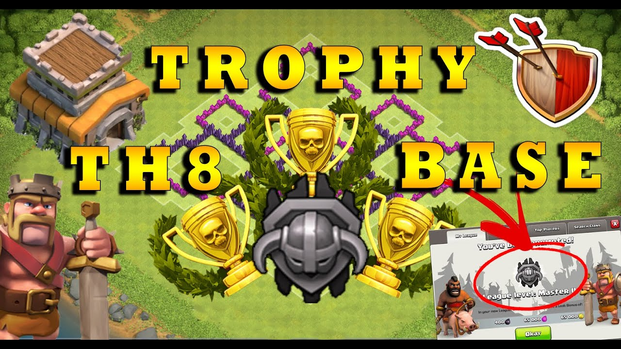 Best th8 master league trophy base 2016 the best attack strategy