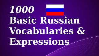 1000 Basic Russian Vocab & Expressions