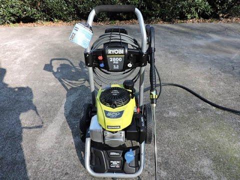 Ryobi 2800 PSI Gas Pressure Washer With Honda Engine YouTube