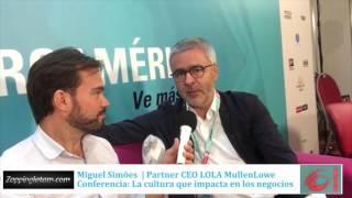 Miguel Simões, Partner & CEO de LOLA MullenLowe en El Ojo 2016