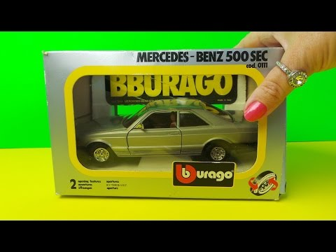 1:26 SCLAE Burago 1983 Mercedes-Benz 500 SEC TOY Made In Italy
