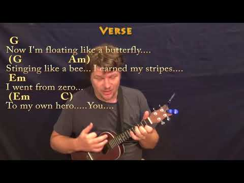 Roar (Katy Perry) Ukulele Cover Lesson in G with Chords/Lyrics