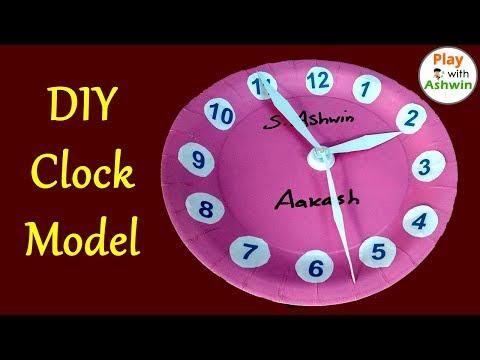 DIY Craft Ideas | Simple Clock Model Using Paper Plate | Kids School Project | PlayWithAshwin