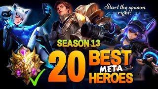 SEASON 13 META HEROES in MYTHIC RANK in Mobile Legends