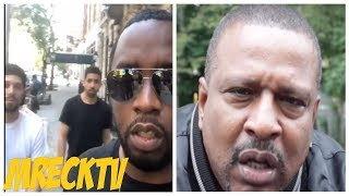 Diddy & Goons Reacts To Gene Deal Pulls Up In Harlem Looking Suspect,To Prove Gene Wrong? (Ha Ha)