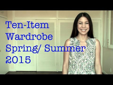 Ten-Item Wardrobe Spring Summer 2015
