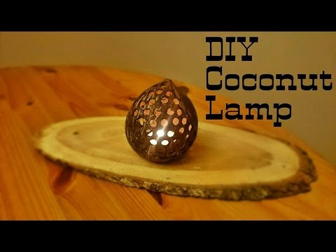 DIY Coconut Lamp