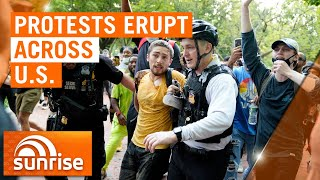 Protests erupting across America following police officer arrest | 7NEWS