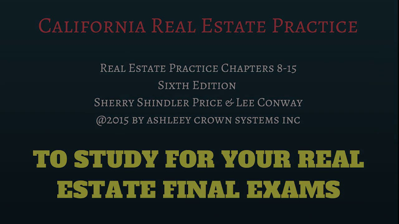California Real Estate Practice Terms