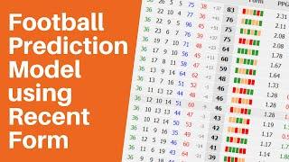 Football Prediction Model using Recent Form screenshot 4