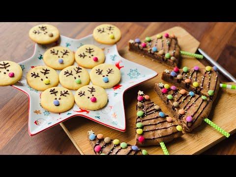 biscuits-de-noël-et-sapins-de-noël-au-chocolat