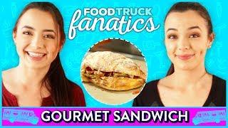 GOURMET SANDWICH CHALLENGE?! Food Truck Fanatics w/ Merrell Twins