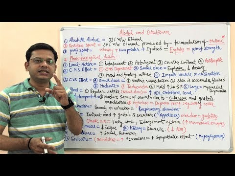 Alcohol And Disulfiram (Part 01) - Pharmacological Action Of Ethanol. Hindi