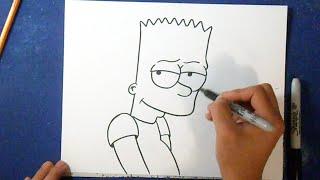 Como desenhar o Bart Simpson 4 - Os Simpsons