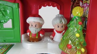 Santa Clause Fisher-Price Little People Santa's North Pole Cottage