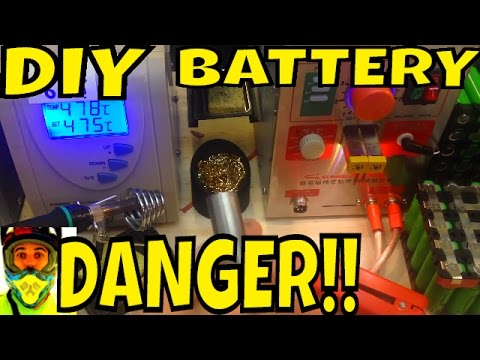 Soldering & Spot Welding DANGER!! 800A exploding Nickel strip - Electric Bike battery 18650 cells